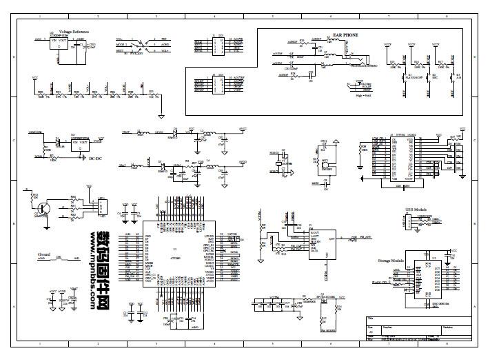 乐迪mp-510c mp3/4电路图