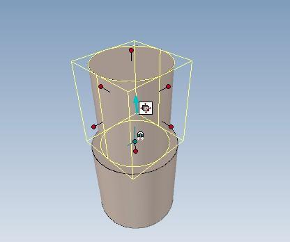 步骤1,点击选中圆柱体