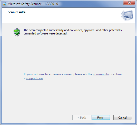 Microsoft Safety Scanner Windows 7
