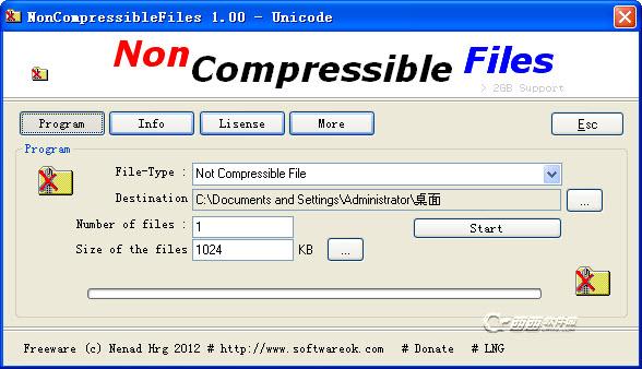 创建压缩文件快速下载( NonCompressibleFiles )v1.05绿色版