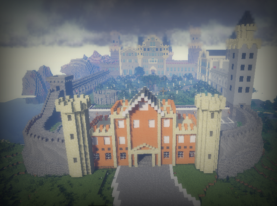 我的世界花园城堡地图存档下载绿色版
