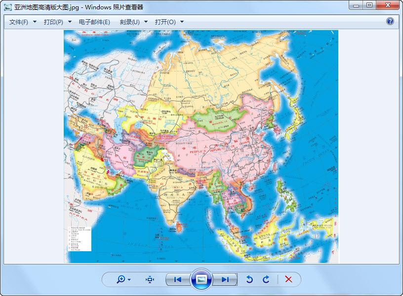 亚洲地图高清版