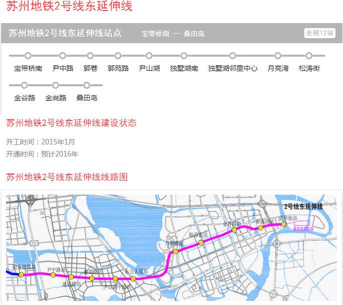 苏州地铁线路图规划 苏州地铁2号线东延伸线规划图下载2016最新版图片