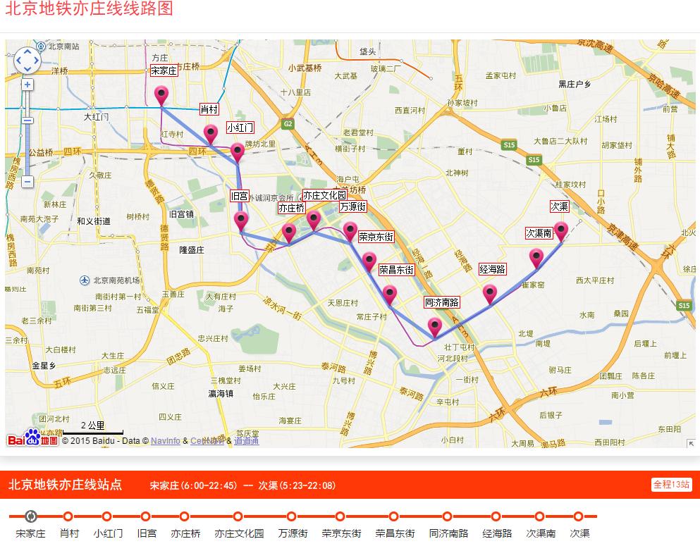 北京地铁线路图规划 北京地铁亦庄线线路图下载2016最新版图片