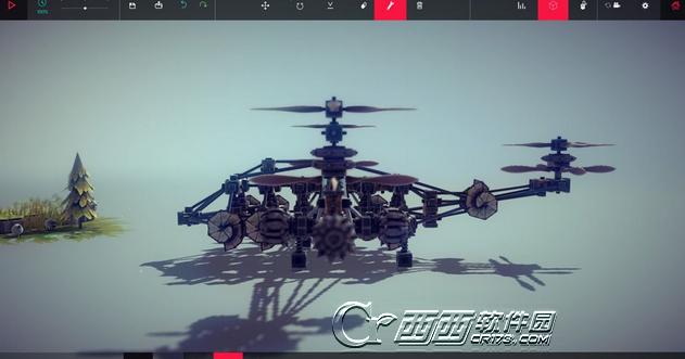 围攻besiege鱼鹰的直升机模型存档 绿色版