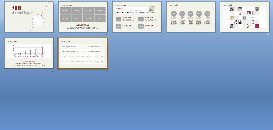 欧式风格简约工作报告ppt模板下载