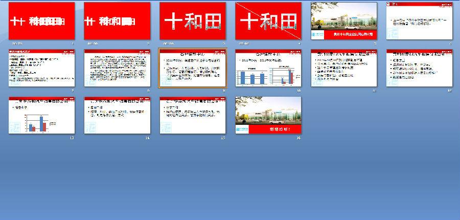 红色企业项目汇报PPT模板下载