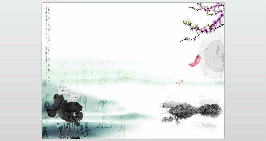 首页 ppt模板 ppt风景模板 → 中国风金鱼荷花水墨风格ppt模版   这是