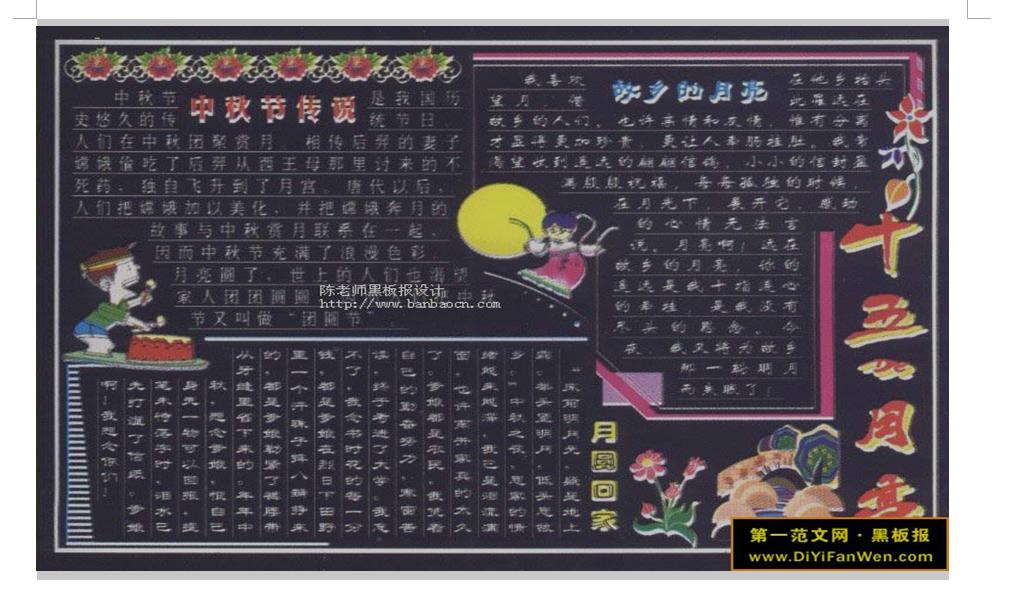 国庆节黑板报版式设计方法教学模板下载