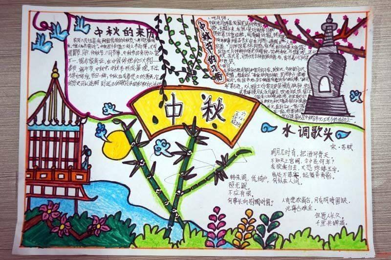 小学四年级中秋节手抄报图片下载 小学四年级中秋节手抄报图片下载高图片