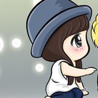 情侣头像漫画版素描一左一右图片 情侣头像漫画版一对情侣两张情头下