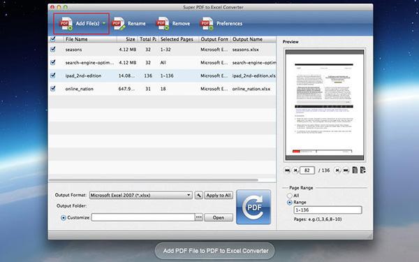 convert pdf to excel mac automator