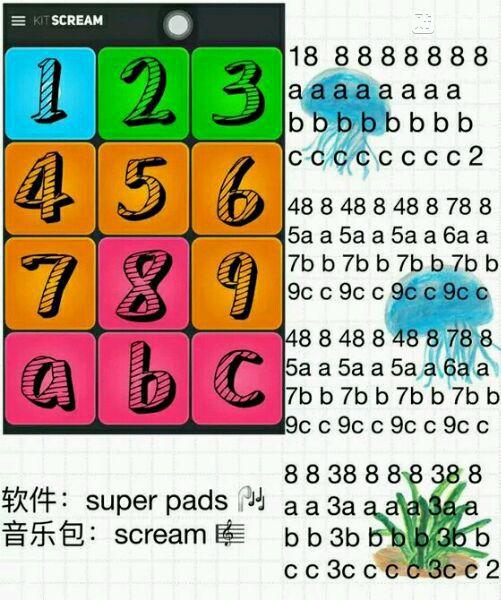 superpads12键曲谱