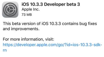iOS10.3.3开发者预览版Beta3描述文件官方最新版 苹果iOS10.3.3开发