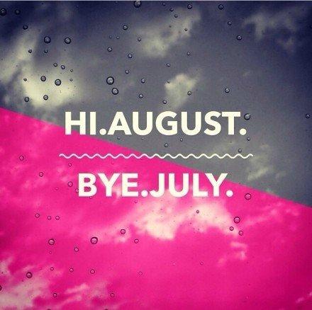 你好八月七月再见图片 八月你好带字图片高清无水印版下载