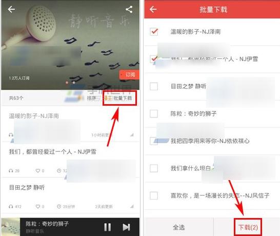 凤凰FM怎么批量下载2