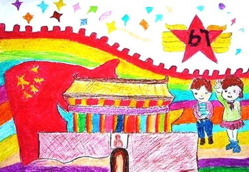 庆国庆迎中秋儿童绘画图片下载 庆国庆迎中秋儿童画图片大全下载