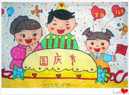 庆中秋节相关画画图片而准备的相关作品图片,随着国庆中秋双节的到来