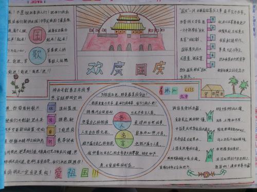 国庆中秋双节同庆图片手抄报下载 国庆中秋双节同庆手抄报图片下载图片