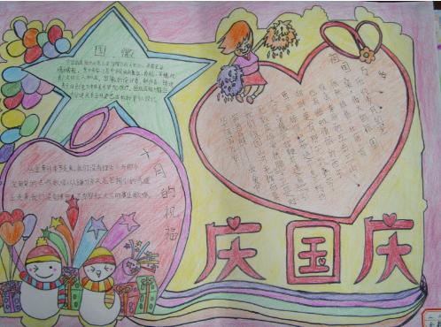 庆节关于爱国的手抄报8k纸图片 国庆节又简单又漂亮的爱国手抄报图图片